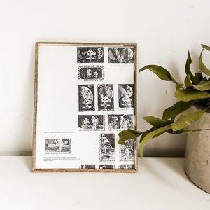 Vintage nasa stamp drawing art
